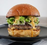 South-west beef burger with avocado salsa & Chipotle Ranch